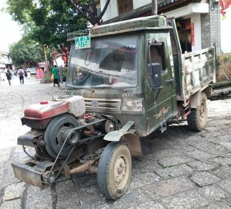 你把拖拉机怎么了?