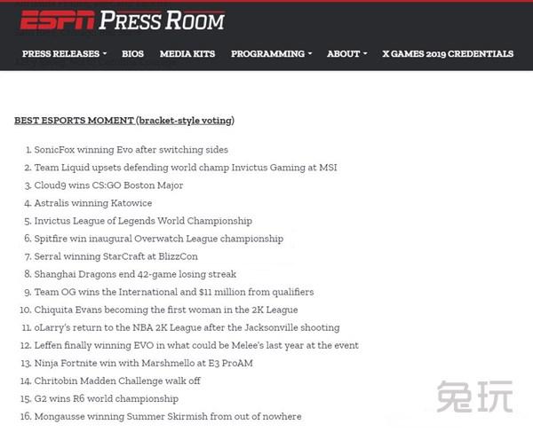 yyy863_ESPN评选最佳电竞时刻 iG获S8冠军被提名