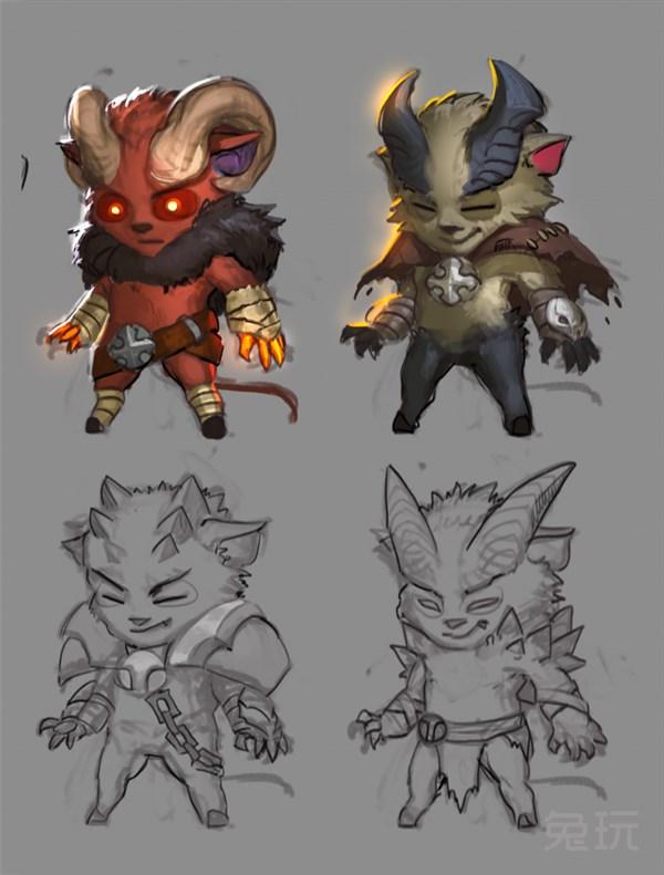 角色模型细节 虽然化身魔王,但提莫的呆萌气质依然难掩. 恶魔之怒!